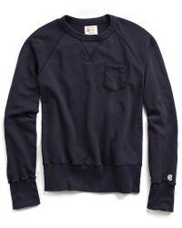 Todd Snyder - Pocket Sweatshirt In True Navy - Lyst