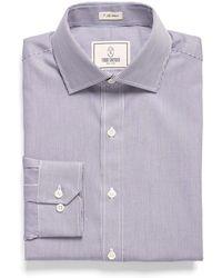 Todd Snyder - Spread Collar Dress Shirt In Fine Blue Stripe - Lyst