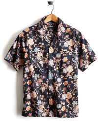 Todd Snyder - Liberty Camp Collar Floral Print In Black - Lyst