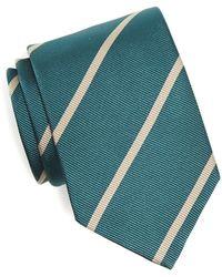 Drake's   Silk Stripe In Green   Lyst