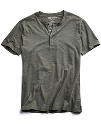 Todd Snyder - Made In L.a. Slub Jersey Short Sleeve Henley In Olive - Lyst
