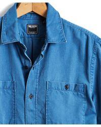 Todd Snyder - Italian Indigo Guayabera Shirt - Lyst
