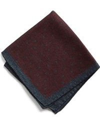 Todd Snyder - Italian Wool Burgundy Square Dot Pocket Square - Lyst