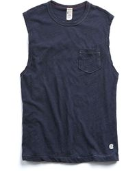 Todd Snyder - Muscle Tee In Navy - Lyst