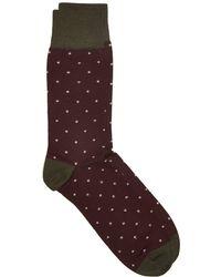 Corgi - Spot Socks In Port - Lyst