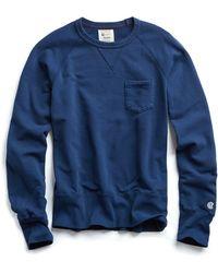 Todd Snyder - Pocket Sweatshirt In Marine Blue - Lyst