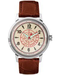 Timex - Beekman Watch In Brown - Lyst