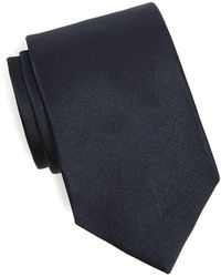 Drake's - Solid Silk Tie In Navy - Lyst