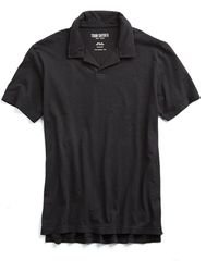 Todd Snyder - Made In L.a. Johnny Collar Polo In Black - Lyst