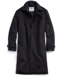 Todd Snyder - Black Pinstripe Topcoat - Lyst