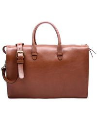 Lotuff Leather - Triumph Briefcase In Saddle Tan - Lyst