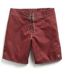 Todd Snyder - Exclusive Birdwell Contrast Pocket 311 Board Shorts In Maroon - Lyst