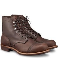 """Red Wing - Red Wing 8111 Iron Ranger 6"""" Boot In Amber Harness Leather - Lyst"""