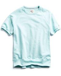 Todd Snyder - Terry Short Sleeve Sweatshirt In Surf Green - Lyst
