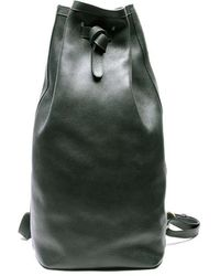 Lotuff Leather - Olive Green Leather Duffle Backpack - Lyst