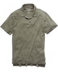 Todd Snyder - Made In L.a. Montauk Polo In Olive - Lyst