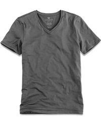 Mack Weldon - Silver Vneck Undershirt In Stealth Grey - Lyst