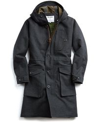 Todd Snyder - Exclusive Private White V.c Wool Parka In Charcoal - Lyst