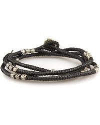M. Cohen - Knotted Wrap Bracelet In Black - Lyst