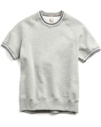 Todd Snyder - Short Sleeve Sweatshirt With Tipping In Grey - Lyst