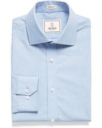 Todd Snyder - Spread Collar Dress Shirt In Melange Blue - Lyst