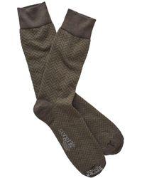 Corgi - Herringbone Socks In Olive - Lyst
