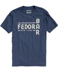 Todd Snyder - Speakeasy Bar Fedora In Mast Blue - Lyst