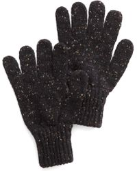 Drake's | Donegal Wool Glove In Charcoal | Lyst