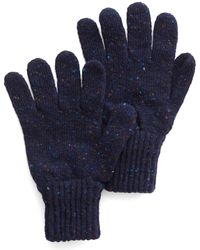 Drake's | Donegal Wool Glove In Navy | Lyst