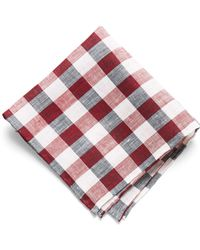 Todd Snyder - Pocket Square In Red Picnic Check - Lyst
