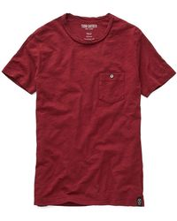 Todd Snyder - Classic Pocket Tee In Maroon - Lyst