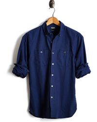 Todd Snyder - Italian Oxford Camp Shirt In Navy - Lyst