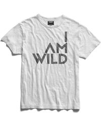 Todd Snyder - Iamwild® Graphic Tee In White - Lyst
