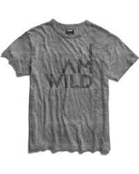 Todd Snyder - Iamwild® Graphic Tee In Salt And Pepper - Lyst