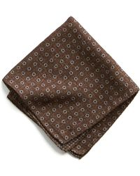 Todd Snyder | Italian Wool Pocket Square In Brown Circle | Lyst