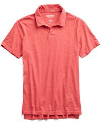 Todd Snyder - Made In L.a. Johnny Collar Polo In Red - Lyst