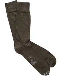 Corgi - Solid Olive Dress Socks - Lyst