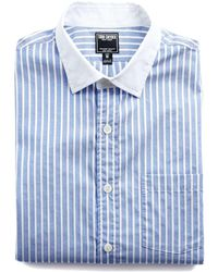Todd Snyder - Spread Collar Shirt In White Collar - Lyst