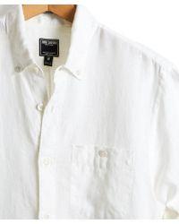 Todd Snyder - Button Down Linen Pocket Shirt In White - Lyst