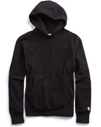 Todd Snyder - Popover Hoodie In Black - Lyst