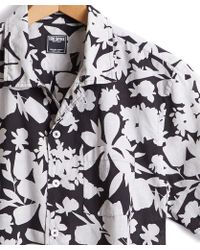 Todd Snyder - Italian Linen Camp Collar Short Sleeve Floral Shirt - Lyst