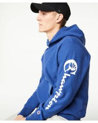 Todd Snyder - Champion Popover Graphic Hoodie In Admiral Blue - Lyst