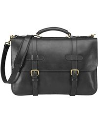 Lotuff Leather - Lotuff English Briefcase In Black - Lyst