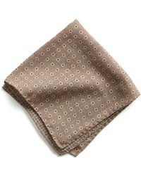 Todd Snyder - Italian Wool Pocket Square In Light Brown Circle - Lyst