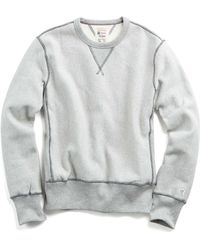 Todd Snyder | Reverse Weave Sweatshirt In Grey Mix | Lyst