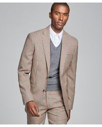 Todd Synder X Champion - Sutton Red And Brown Check Suit - Lyst