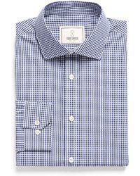 Todd Snyder - Spread Collar Dress Shirt In Blue Plaid - Lyst