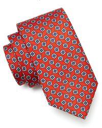 Drake's - Floral Foulard Silk Tie In Red - Lyst