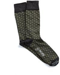 Corgi - Polka Dot Socks In Olive - Lyst