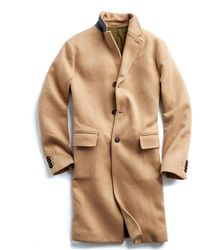 Todd Snyder - Italian Wool Cashmere Camel Topcoat - Lyst